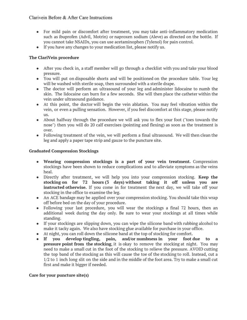 Clarivein After Care Instructions-2